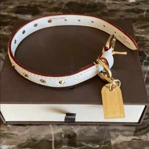 LOUIS VUITTON SUHALI GOATSKIN LEATHER DOG COLLAR